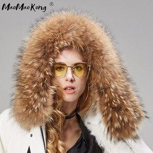 Image 5 - MaoMaoKong Long Corduroy winter faux fur lining jacket coat Women parka fur coat Corduroy real raccoon fur collar warm parkas