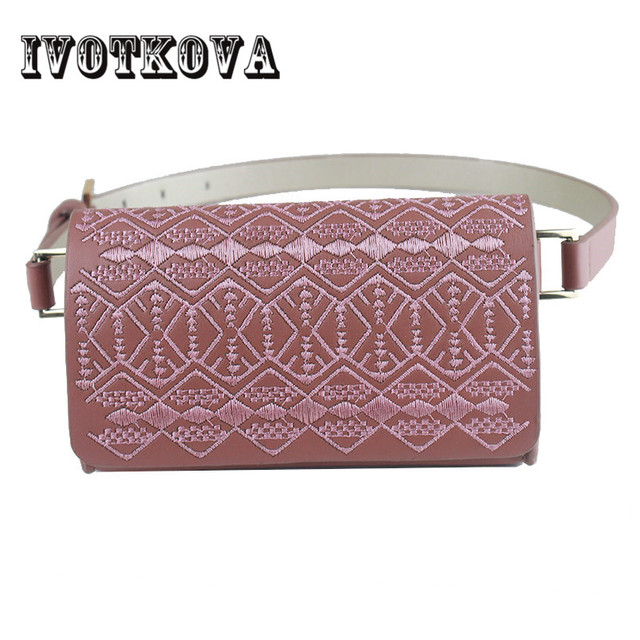 Fashion PU Leather Women Waist Bag Travel Casual Pack Belt Pack Waist Bag Pouch Phone Bag Bolsa