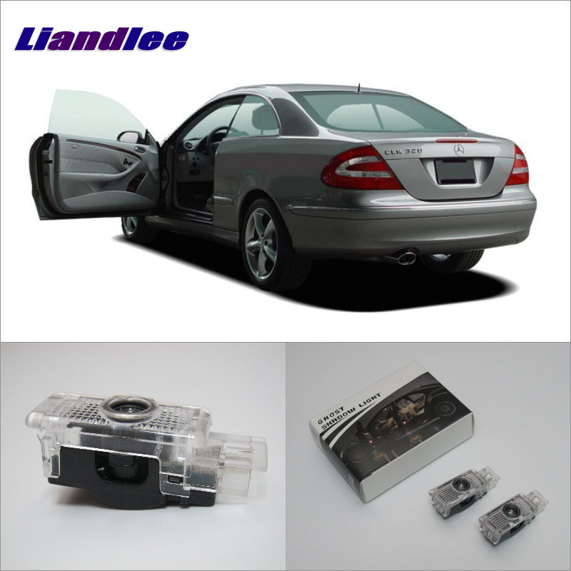 Liandlee LED Car Logo Door Welcome Lights Ghost Shadow Projector Lamp For Mercedes Benz L CLK 2003~2009 Courtesy Doors Lamps