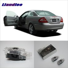 Liandlee LED Car Logo Door Welcome Lights Ghost Shadow Projector Lamp For Mercedes Benz L CLK 2003~2009 Courtesy Doors Lamps цена в Москве и Питере