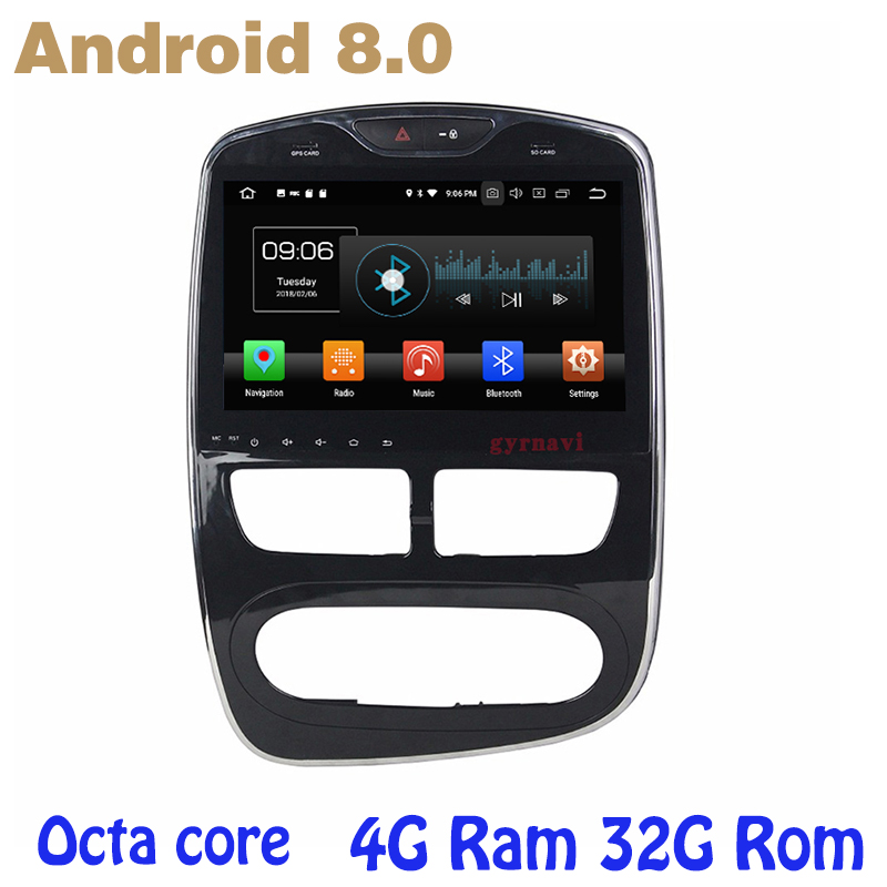 Octa core PX5 Android 8.0 car radio gps for Renault Clio with 4G RAM 32G ROM wifi 4g usb auto Multimedia octa core px5 android 8 0 car dvd gps for hyundai ix45 santa fe 2013 2015 with 4g ram 32g rom radio wifi 4g usb auto multimedia