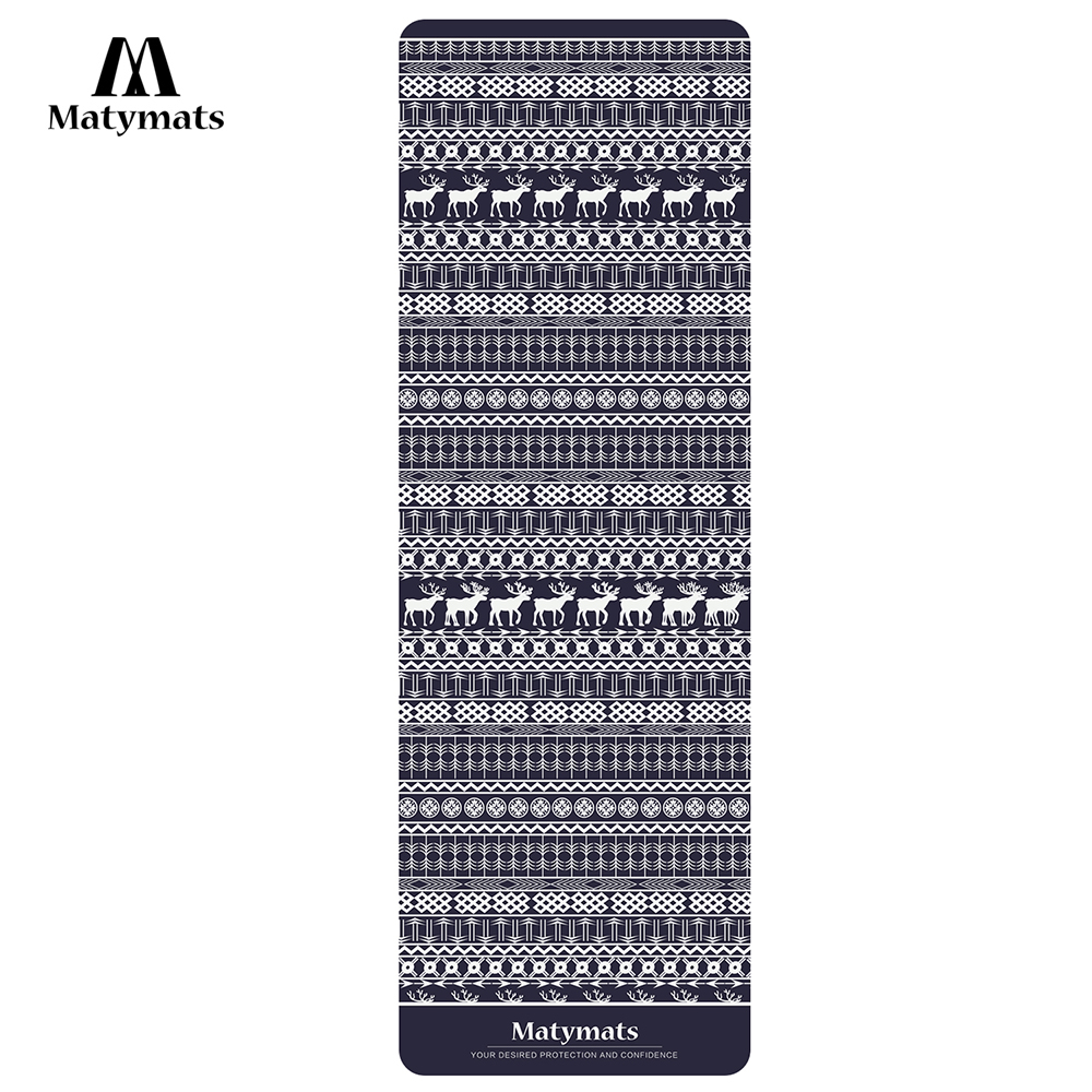 Matymats Women& Men Hot Yoga Mat Non Slip TPE+MICROFIBER Gymnastics Mat Ourdoor Comping Mats With Carrying Strap
