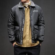 Moda Casual hombres traje de algodón de otoño e invierno nuevo M-5XL  Corduroy Loose d9e387fe6cbf2