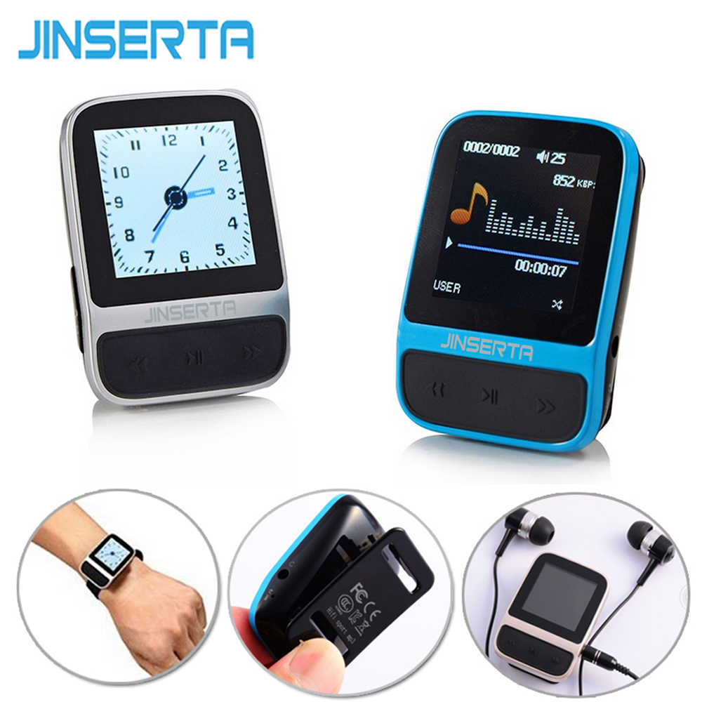 "JINSERTA 1.41 ""TFT Screen Olahraga Perhiasan 4 GB HiFi Mp3 Pedometer FM Radio Perekam e-Book Fungsi Penyimpanan Portabel Musik Player"