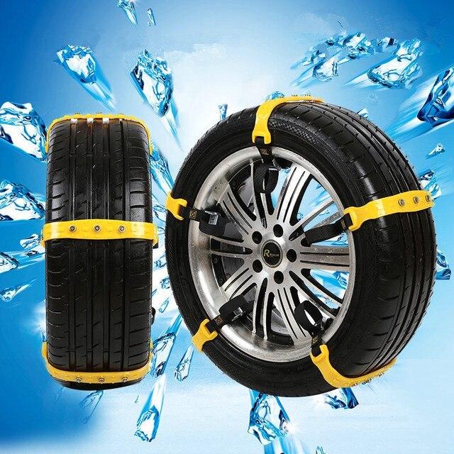 10 pcs de voiture pneus hiver anti d rapage des roues cha nes universel boeuf tendon. Black Bedroom Furniture Sets. Home Design Ideas