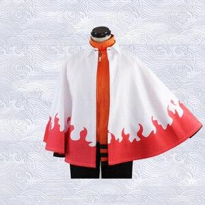 Image 4 - אנימה נארוטו קוספליי תחפושות שביעי ההוקאגה גלימת נארוטו אוזומאקי גלימת תלבושת כל הקדושים