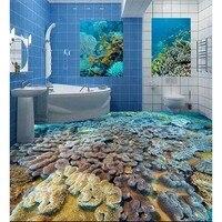 3D Floor Sticker Wallpaper Customized Reefs Photo PVC Wallpaper For Bathroom Kitchen Self adhesive Waterproof Wallpaper #148