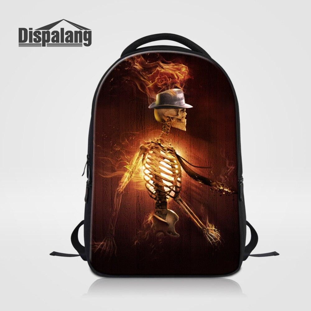 Dispalang hommes sac à dos crâne squelette impression voyage sac à dos école livre sac homme ordinateur portable affaires sac à dos Mochila sac à bandoulière