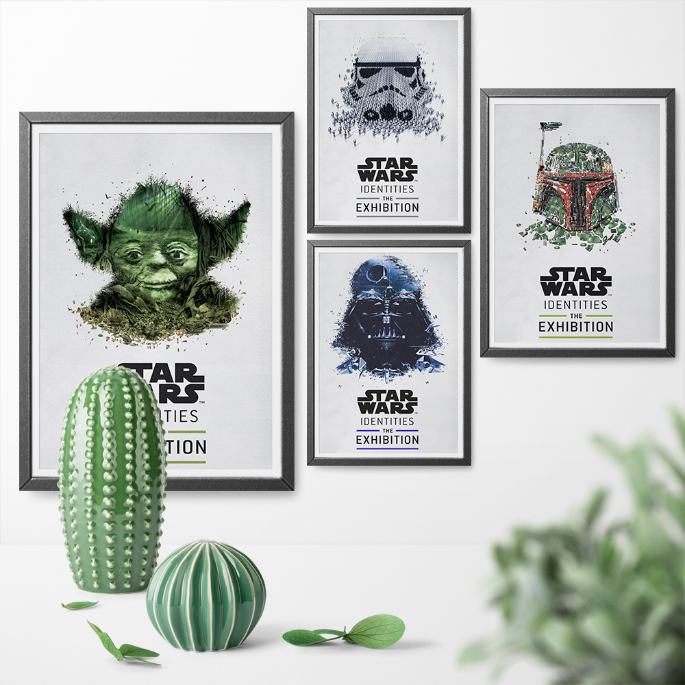 Star Wars Darth Vader Trooper Yoda Canvas Art Poster Print Wall Art Canvas Painting Picture for Living Room Home Decor Framless