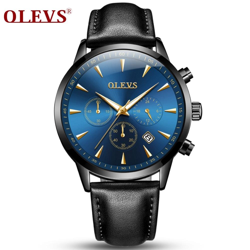 OLEVS Marca Relojes de Lujo Hombres Deportes de Negocios Relojes - Relojes para hombres