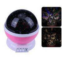 Romantic Rotating Spin Night Light Projector Sky Star Projection Lamp Children Kids Baby Sleep Led Lamp