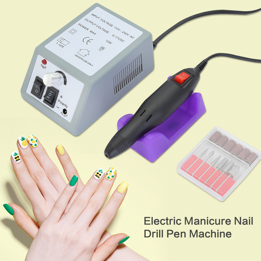 Professional Electric Manicure Nail Drill Pen Machine Pedicure Files Gel Polish with Nail Art Buff Drill Polish Grinding Glazing