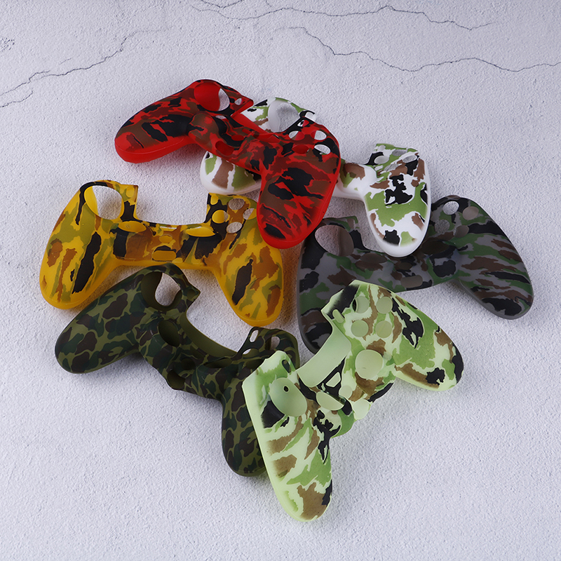 Camouflage Camo Silikon Gel Gummi Weiche Hülse Grip Hülle Für Dualshock 4 Playstation 4 Ps4 Pro Slim-controller Neue Sorten Werden Nacheinander Vorgestellt Fälle Unterhaltungselektronik