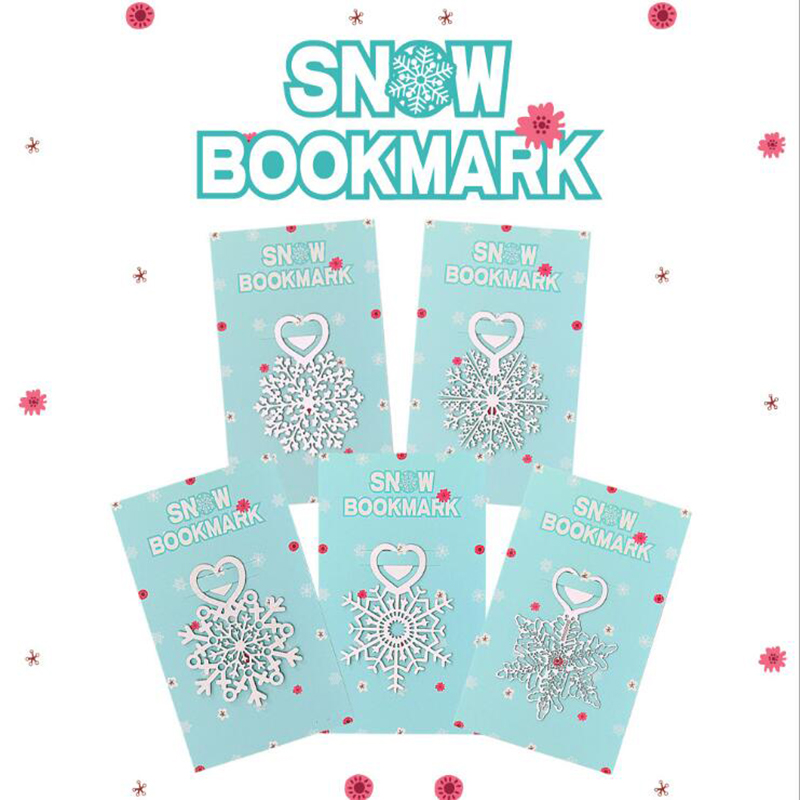 Love Snowflake Metal Bookmark Metal Cute Fresh Simple Gift Bookmark Child Student Learning Stationery School Office Supplies