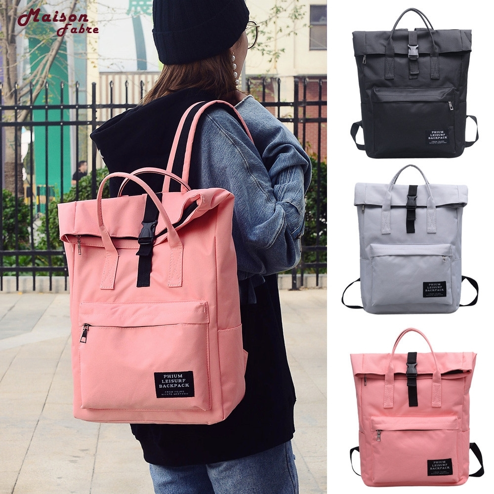 Maison Fabre  Fashion Women Pure Color Nlyon Shoulder Bag School Bag Satchel Tote Backpack  dropship _E23 shoulder bag