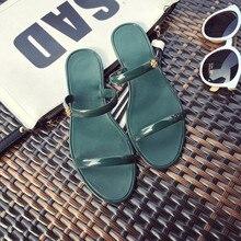 2016 New Summer Pantoufles De Gelée Cristal Chaussures En Plastique Explosion Plage Sandales Gelée Chaussures Flip Flops