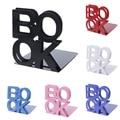 2 шт Горячие Алфавит формы металлические железные книгодержатели поддержка держатель настольные подставки для книг Мода