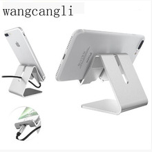 цена на Aluminum alloy rotating phone holder for iphone X XS for samsung tablet holder Stand mount support Bracket adjustable Desk holde
