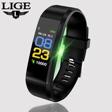 LIGE 2019 New Smart Watch Men Women Fitness tracker Pedometer Heart Rate Blood Pressure Bracelet Sport smart wristband+Box