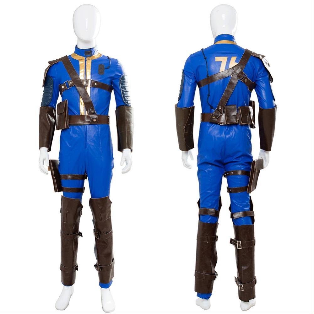 COSPLAY COSTUME Fallout 4 Fallout 76 Vault 76 Jumpsuit Cosplay Costume Suit Uniform Outfit Halloween Carnival Costumes Custom