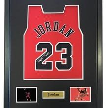 d9d79cc6d12503 Michael Jordan signed autographed basketball shirt jersey come with Sa coa  framed Bulls(China)