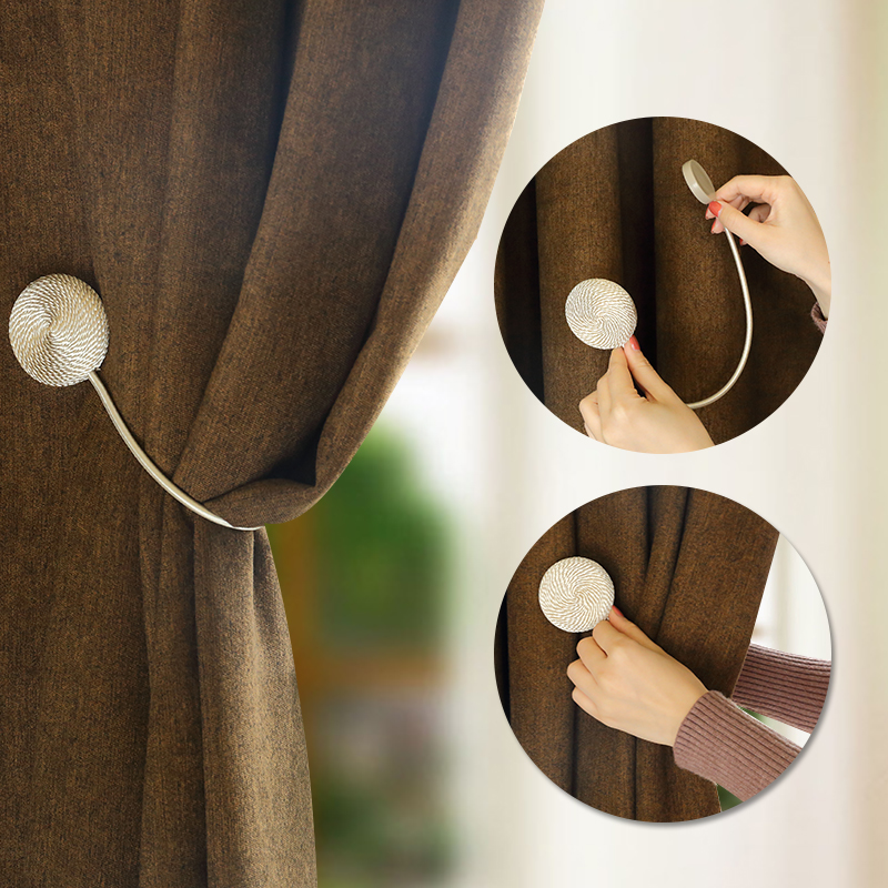 European-style magnet curtain buckle creative shower curtain cord straps for home decoration wall hook