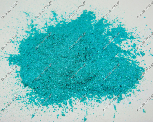 50 Gram Biru Turquoise Warna Debu Bubuk Mika Kosmetik Pigmen Mutiara Untuk Diy Nail