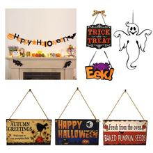 Halloween Non-woven Door Hanging Ghost Festival Spider Ornaments EEK Boo Home Office Party Decorations