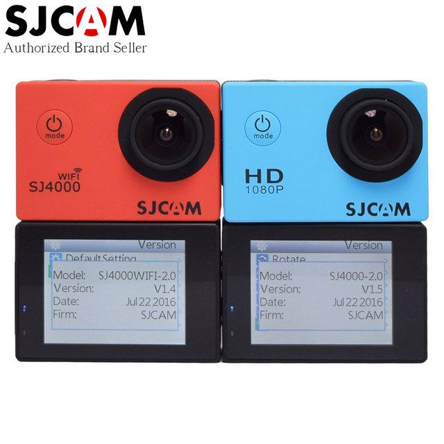 Mais novo original sjcam sj4000 wifi/ação sj4000 2.0 tela de lcd Atualização câmera SJ CAM 4000 Série 30 m À Prova D' Água Mini DV Esporte