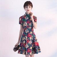 2019 women solid lace flower qipao noble cheongsam wedding bridesmaid dress elegant lady short sleeve vestidos