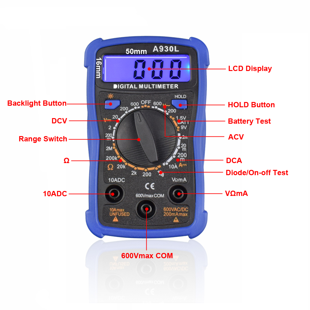 Toolour EU/US 60W Adjusting Temp Electric Soldering Iron Kit Backlit Digital Multimeter Solder Assist Set Welding Repair Tools