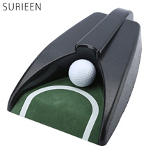SURIEEN 1PC Plastic Golf Ball Kick Back Auto Return Putt Cup Device Putting Mat Indoor Putting Green Practice Golf Training Aids