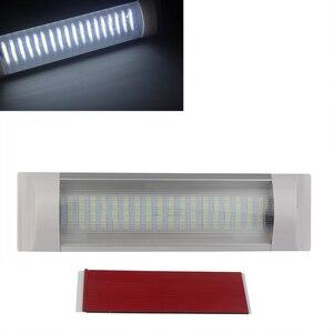 Image 1 - 12 v 24 v 해양 보트 rv에 대 한 16 w 밝은 자동차 인테리어 독서 스트립 화이트 라이트