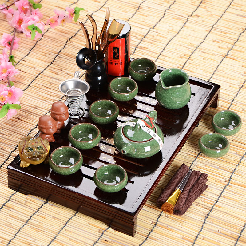 Hot Sales Fathers Day Gift Idea Kung Fu Tea Set Drinkware Chinese Tea Ceremony With Tea Table Over Eight-piece Set High-end Gift