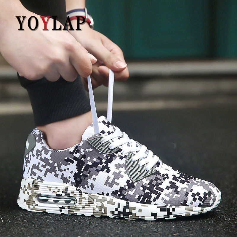 Camouflage Unisex Shoes Slipony men Shoes Height Increase male Comfort Footwear plus size 35-46