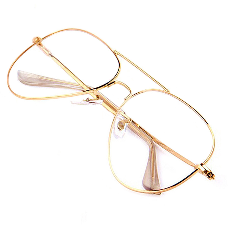 Gold Clear Glasses Myopia Clear Frame Glasses Women Eyewear Men ...