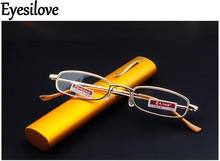 Eyesilove Anti-fatigue Aspherical resin reading glasses pen holder Reading Glasses Women Men Presbyopia Eyewear free shipping