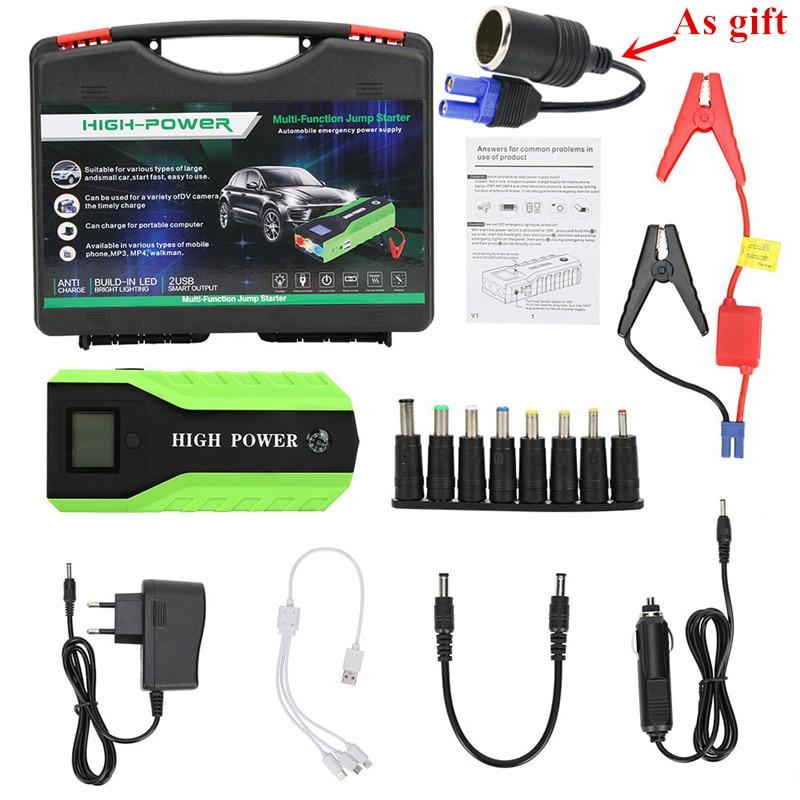 Chargeur de voiture de puissance de démarreur portatif du dispositif 600A 12V de démarrage Diesel 89800mAh d'essence pour le CE de démarreur de voiture de propulseur de batterie de voiture