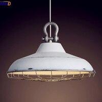 Iwhd Nordic чердак Стиль промышленные подвесные светильники столовая Ретро Винтаж лампы Светодиодные светильники гладить металл белый