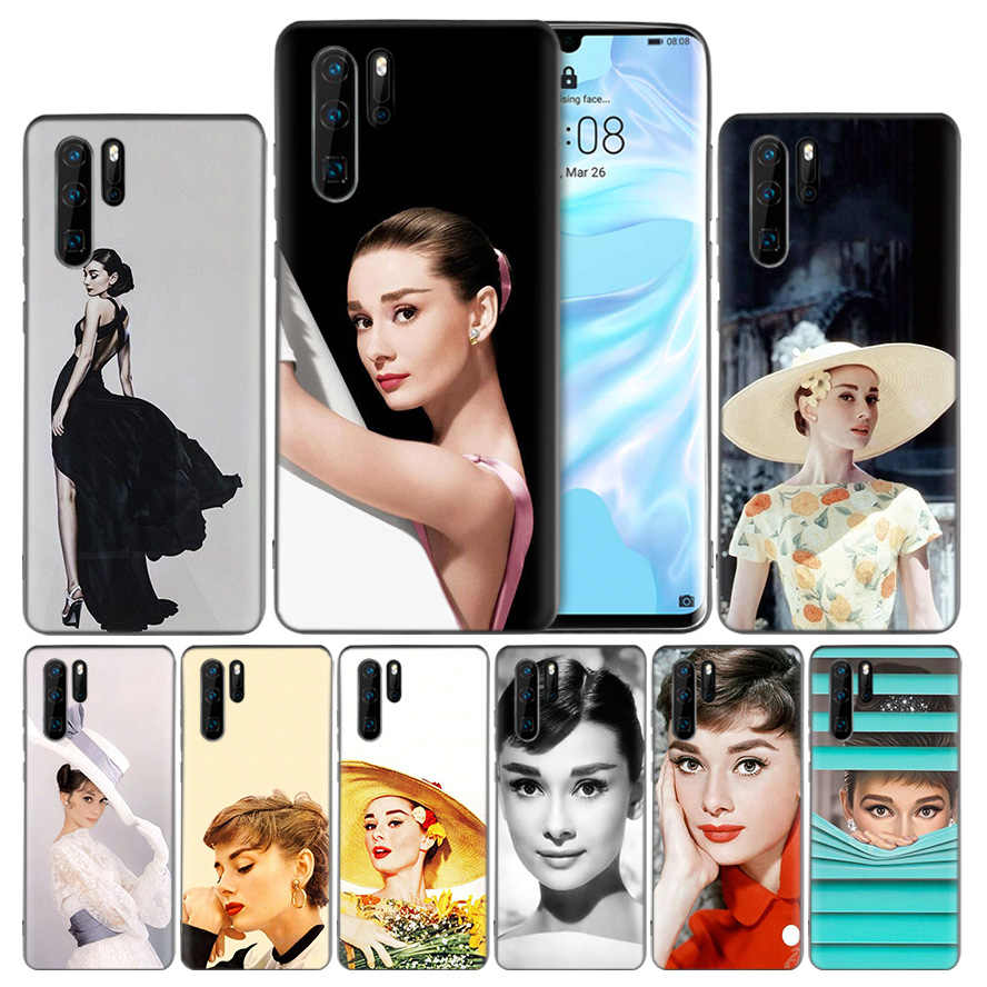 Audrey Hepburn TPU Silicone Case Cover for Huawei Mate 20 10 P30 P20 P10 P9 Lite Pro P Smart Z Plus 2019 V20 Enjoy 9S 9E Nova 4e