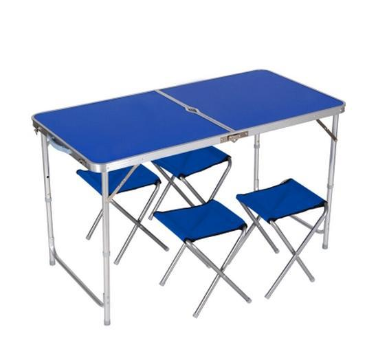 Folding Picnic Table And Chairs Portable Aluminum Outdoor Furniture For Bbq Camping 1 4
