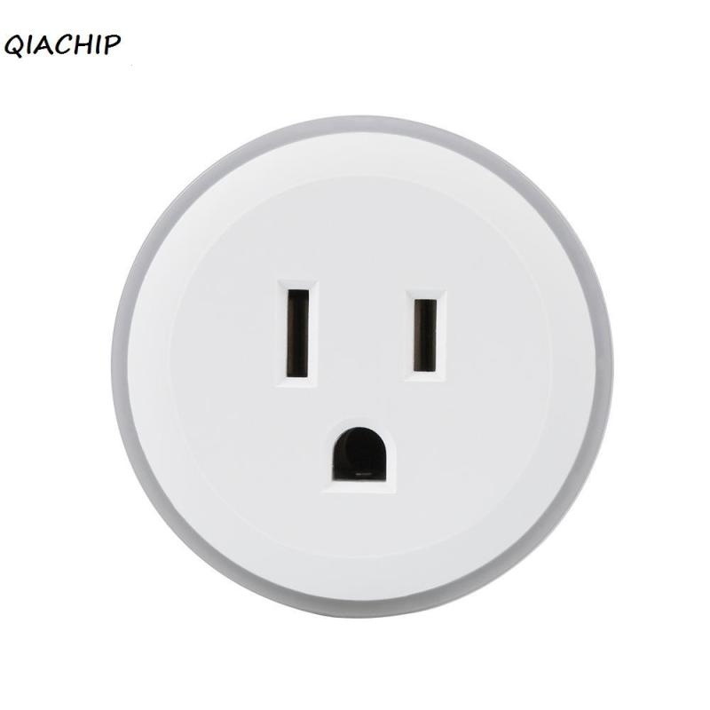 US Standard WiFi Smart Plug Home Socket For Amazon Alexa Google Home App Control Electric Appliances Colorful Breathing Light wifi rgb led lamp bulb dimmable e26 rgb color light for smart home support for alexa and google home