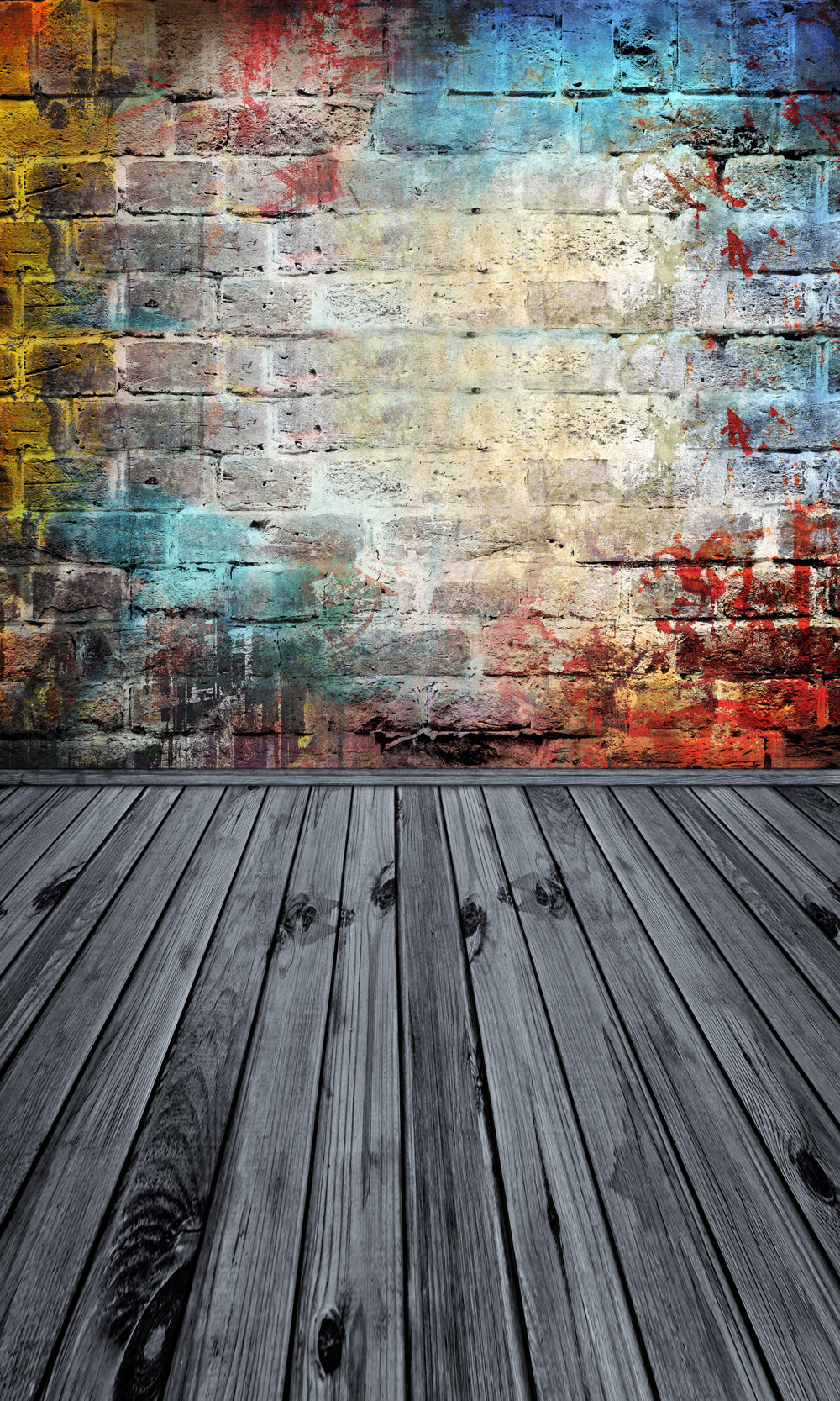 HUAYI 3x6m seamless brick wall wood floor Backdrop photography backdrops photo background vinyl backdrop brick paper XT-6400 ampeg svt 410he cover