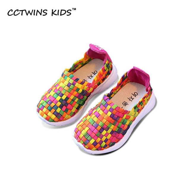 CCTWINS KIDS 2017 Spring Autumn Kid Patch Mesh Boy Sneaker Children Slip On Loafer Fashion Baby Girl Brand Toddler Sport Flat