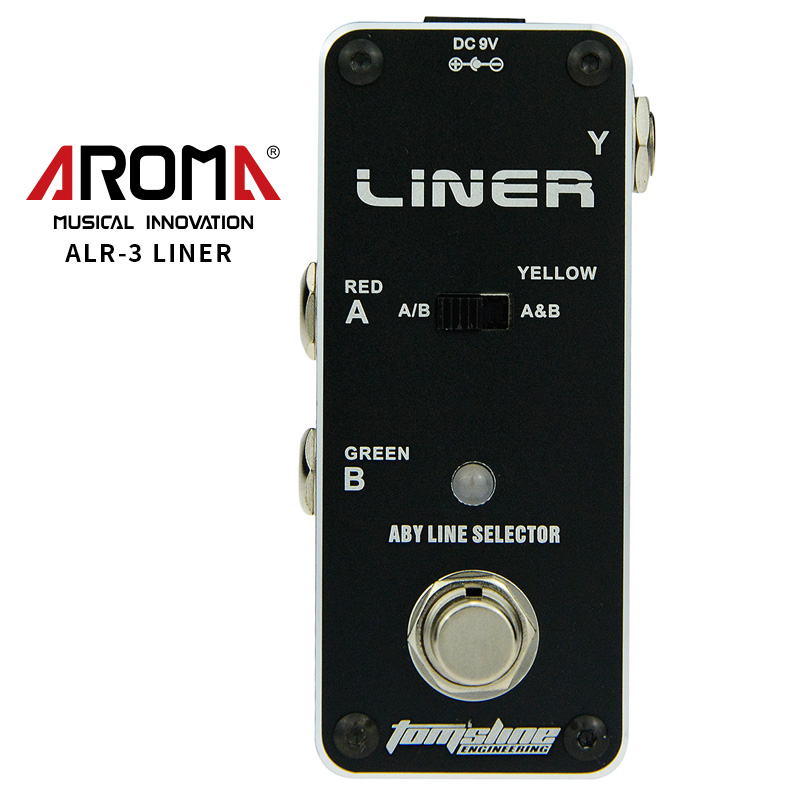 AROMA ALR-3 Liner Guitar Pedal Aby Line Selector Mini Electric Guitar Effect Pedal High Quality Guitar Parts & Accessories aroma adr 3 dumbler amp simulator guitar effect pedal mini single pedals with true bypass aluminium alloy guitar accessories