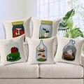 Free shipping hot sale Home Garden sofa Pillow cushion colorful cute cartoon Pillowcase bottle mini animal world cartoon 1pc