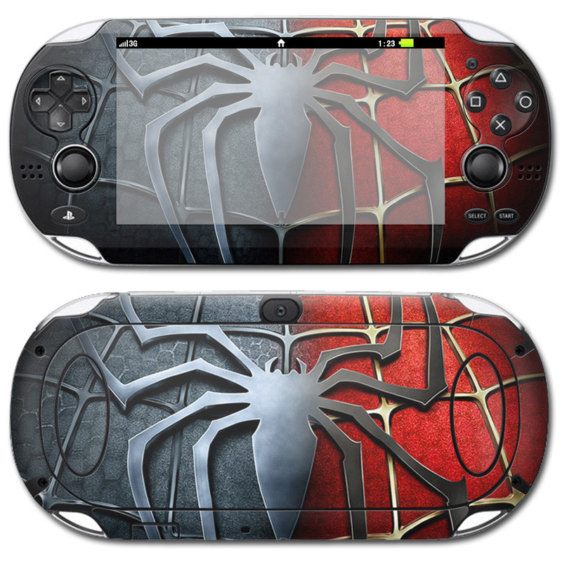 Spiderman Sticker for PS Vita PSV 100 Video games Skins Stickers Vinyl Skin Ptotector Cover For Play Station PSV1000(China)