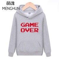 Cool Jeu console Rétro jeu ventilateurs hoodies FC mots Game Over mots impression hommes hoodies de taille à capuche Européenne ac693