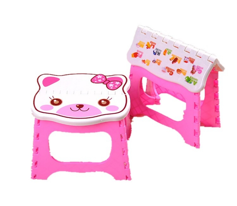 Baby Portable Stool Folding Safe Seat Chair Kids Small Flat Seat Kids Colorful Photography Props Kids