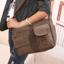 Erkek seyahat çantası tuval erkek postacı çantası tasarımcı marka çanta erkek çanta Vintage erkek evrak çantası iş omuzdan askili çanta Bolsas
